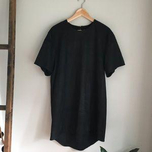 Public School Black Leather Medium Dress